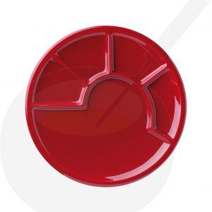 Fonduebord - Rood met vakken