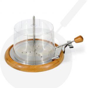 Kaaskruller hout met metalen onderplaat inclusief stolp