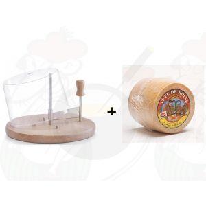 Kaaskruller met Stolp | Beuken + Tete de Moine Kaas +/- 850 gram